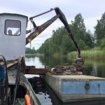 Kranpramen Skoghall bargning 3572